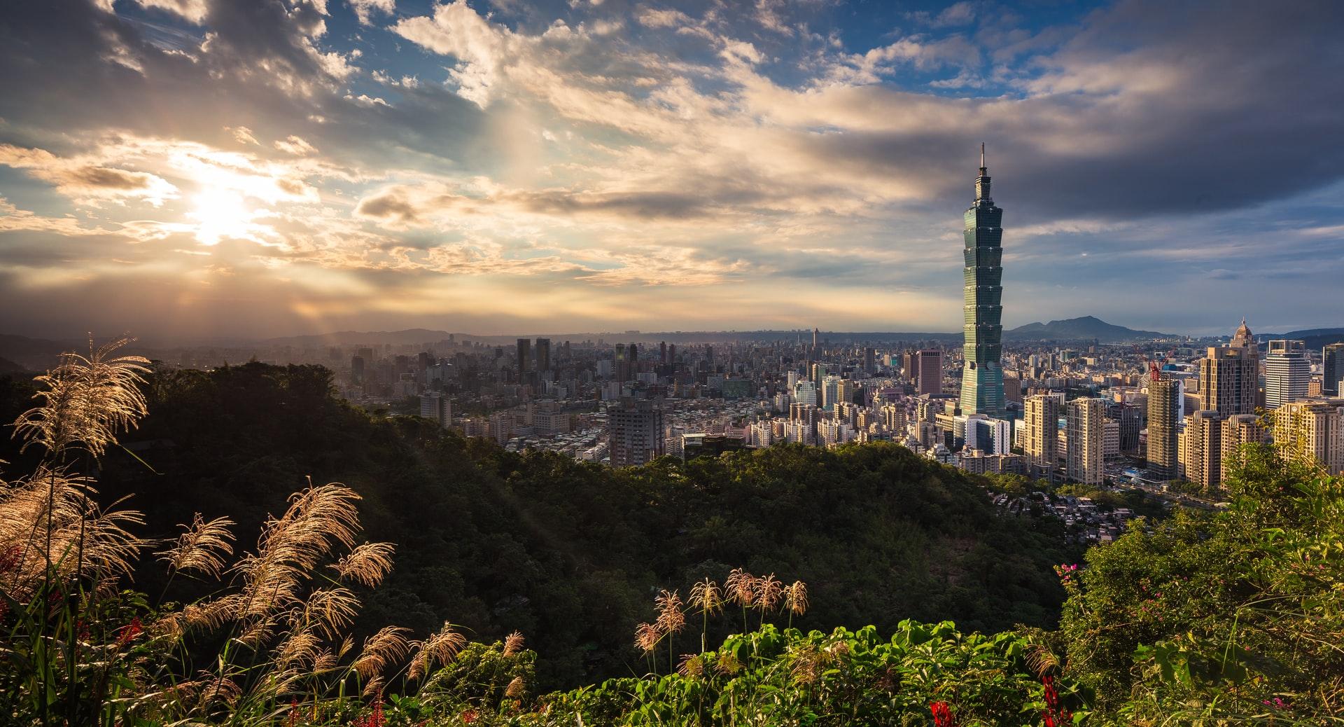 Город Тайбэй в Тайване