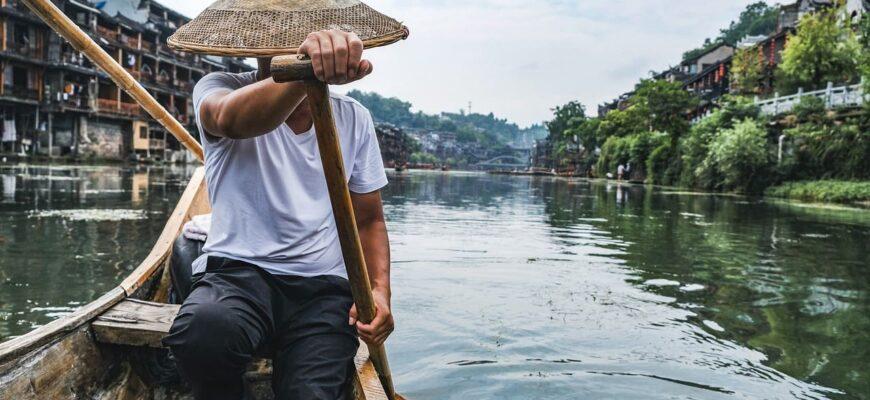 рыбак в Китае